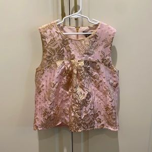 NWT  imoga gold and pink top.  Sz 12